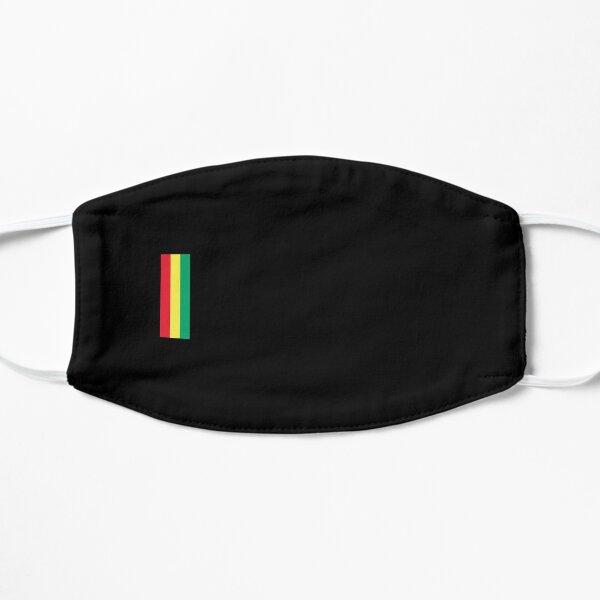 Rasta Red Yellow and Green Colors Rastafarian Flag Colors Flat Mask