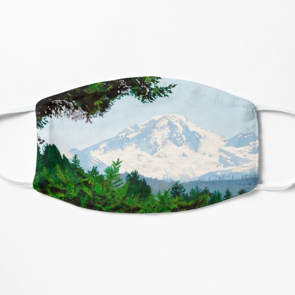 Mt. Baker Volcano, an Endangered Environment on U.S. / Canada Border Mask