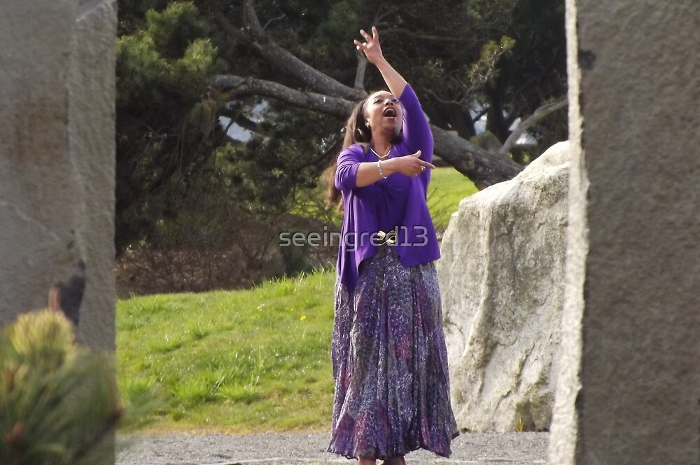 Impromptu Dancer at Tacoma's Chinese Reconciliation Park by seeingred13