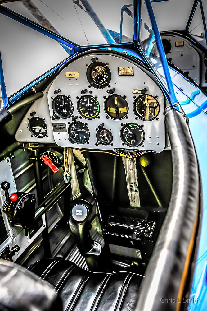 PT17 Stearman Cockpit by Chris L Smith