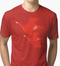 Persona 4 Yosuke Hanamura shirt (red birds) Tri-blend T-Shirt