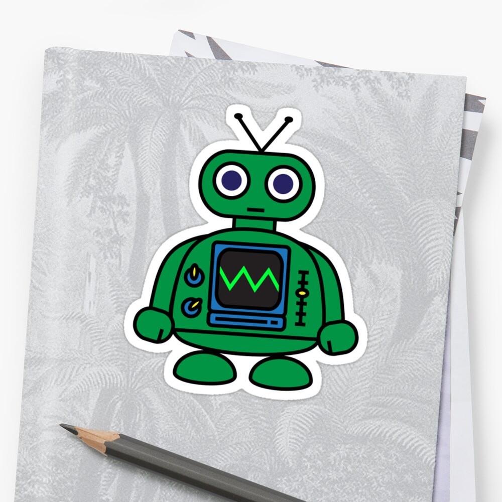 "Dukepope: ""Mini Robot"" Stickers By Dukepope"
