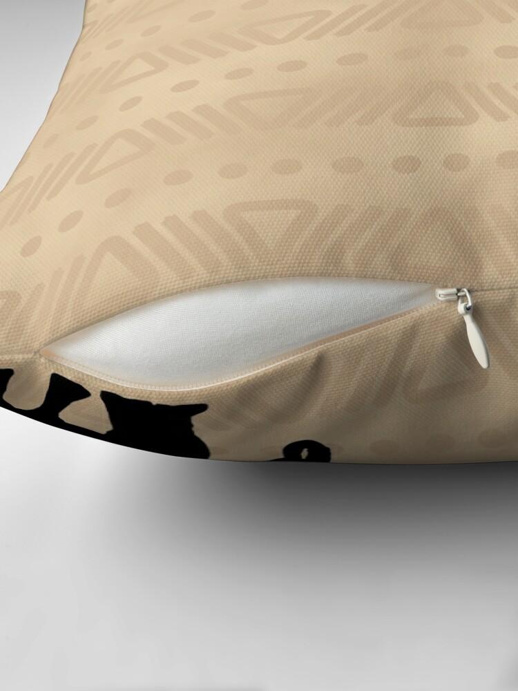 Alternate view of African Safari Elephant Throw Pillow