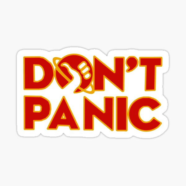 Don't panic The Hitchhiker's Guide to the Galaxy Sticker