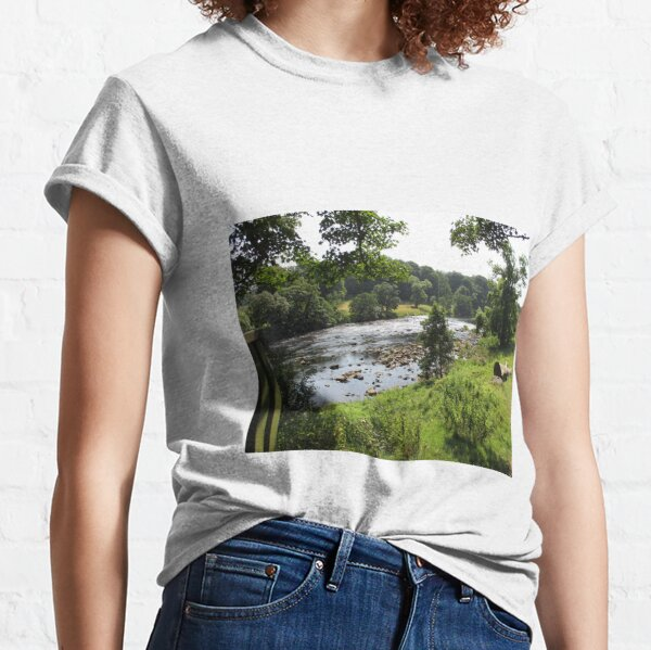 Merch #92 -- Stream Between Trees - Shot 2 (Hadrian's Wall) Classic T-Shirt