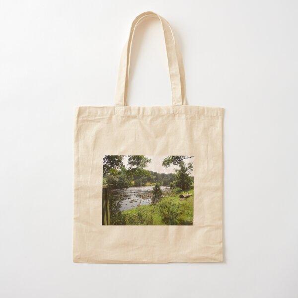 Merch #92 -- Stream Between Trees - Shot 2 (Hadrian's Wall) Cotton Tote Bag