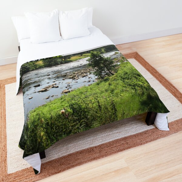 Merch #92 -- Stream Between Trees - Shot 2 (Hadrian's Wall) Comforter