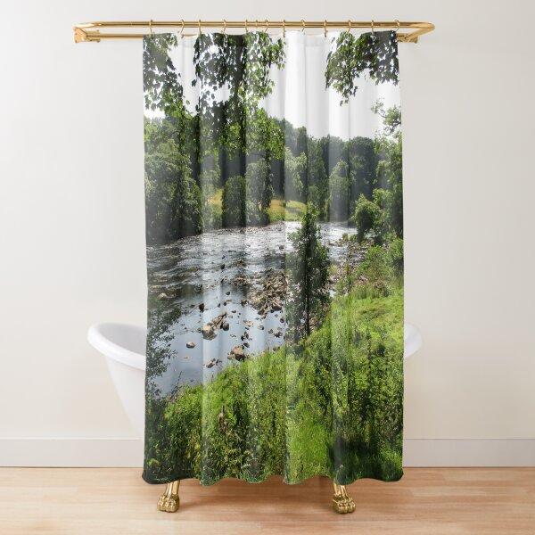 Merch #92 -- Stream Between Trees - Shot 2 (Hadrian's Wall) Shower Curtain