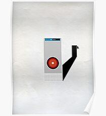 Hal 9000 Minimalist Monkey Poster