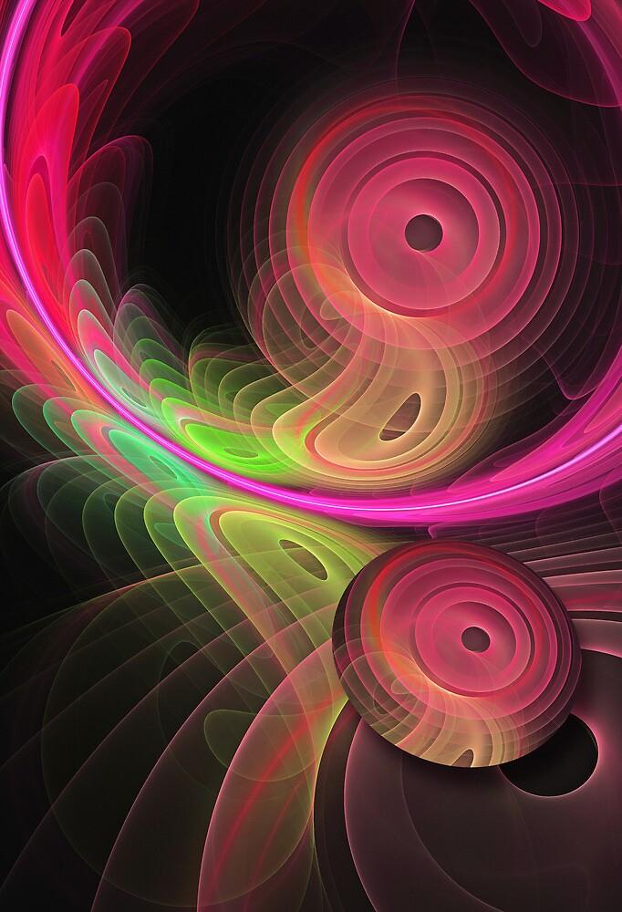 Warping a disc, fractal artwork by walstraasart