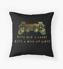 It's not a game camo Throw Pillow