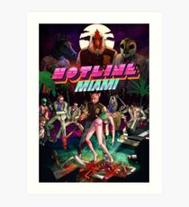 Hotline Miami Cover Art Print