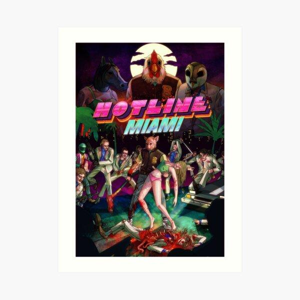 Hotline Miami Cover Art Print