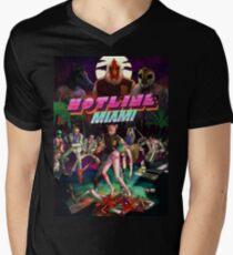 Hotline Miami Cover Men's V-Neck T-Shirt