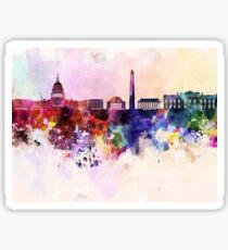 Washington DC skyline in watercolor background  Sticker