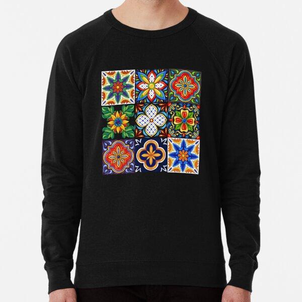 Iberian Mosaic Flower Lightweight Sweatshirt