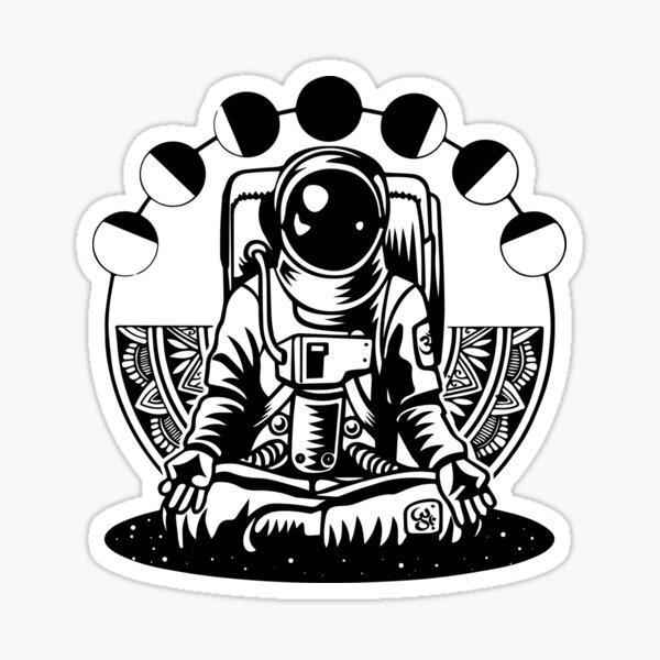 Meditation Zen Yoga Astronaut  Sticker