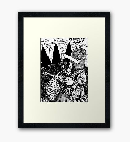 Old Man's Beard 4 Framed Print