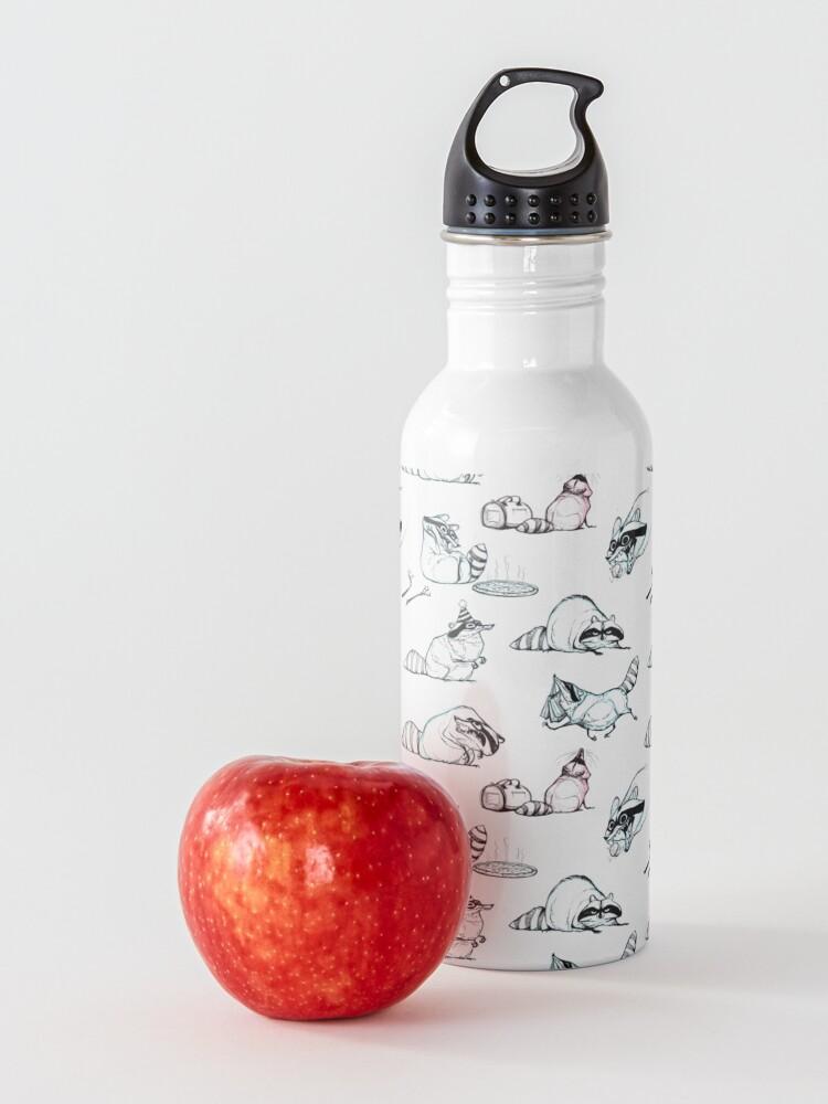 Alternate view of Raccoon Comic Pattern Water Bottle