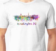 Washington DC skyline in watercolor Unisex T-Shirt
