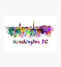 Washington DC skyline in watercolor Photographic Print