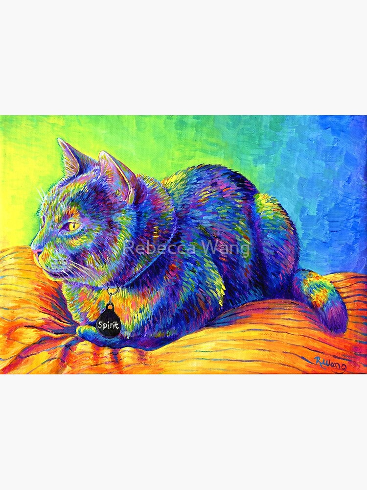 Psychedelic Spirit Rainbow Cat by lioncrusher