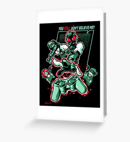 Psychokinetic Power! Greeting Card