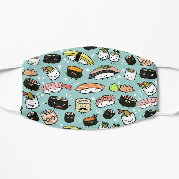 Cute Sushi Pattern | Kawaii Sushi Characters Mask