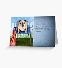 Christian super hero Greeting Card