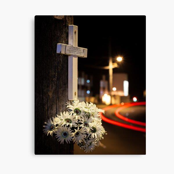 Roadside memorials #1 Canvas Print