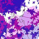 Purple and blue hearts 10 by Gunes Yilmaz