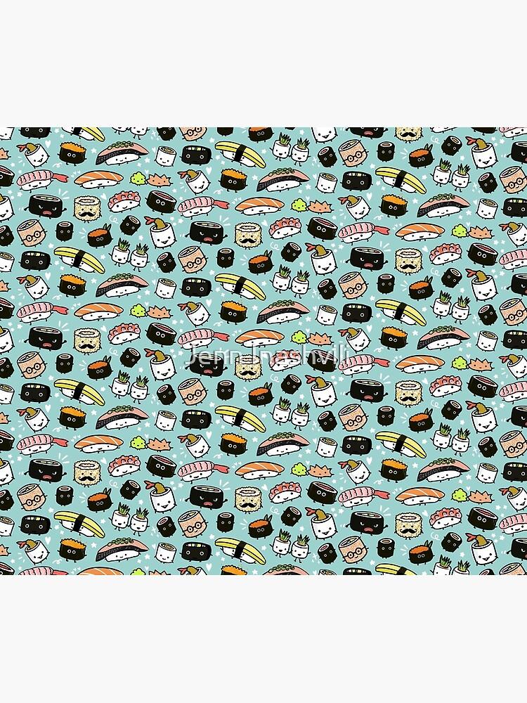 Cute Sushi Pattern | Kawaii Sushi Characters by ShortCoffee