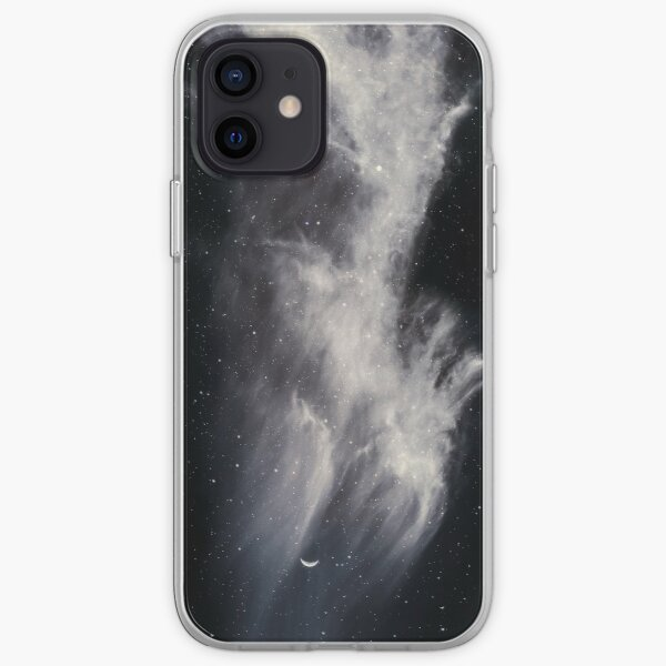 Moon and Clouds iPhone Soft Case
