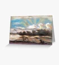 Pastel sketch of clouds Greeting Card