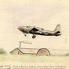 """Douglas A-20A """"the Boston"""" sketch by Chris Neal"""
