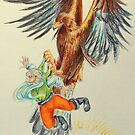 Snow-White and Rose-Red - the dwarf caught by the eagle by Francesca Romana Brogani