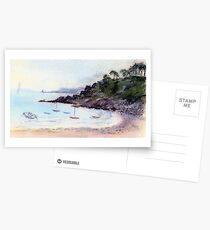 Port Mer oil pastel sketch Postcards