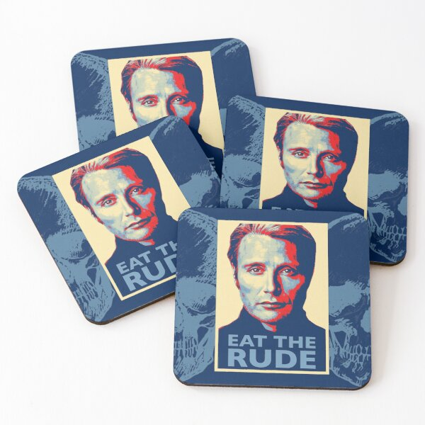 Eat The Rude Coasters (Set of 4)