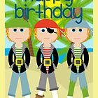 Happy Birthday - Pirates by Emma Holmes
