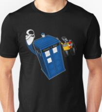 Tardis Space Dance - Wall-e & Eve Unisex T-Shirt