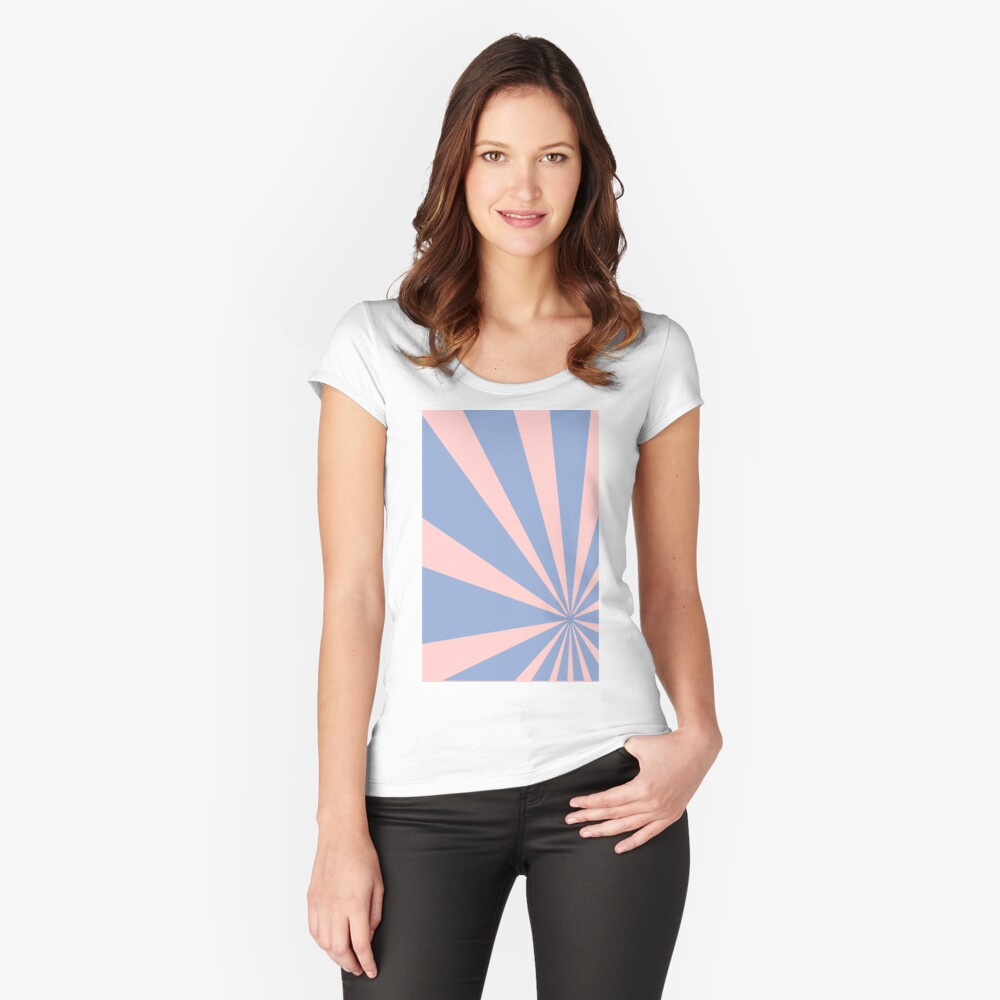 Pantone Colour of the Year 2016  Rose Quartz/ Serenity /Sunbust Fitted Scoop T-Shirt