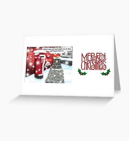 A Post Christmas Dalek Greeting Card