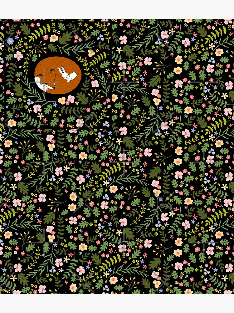 Friendship Fox-Rabbit_BgBlack by miavaldez