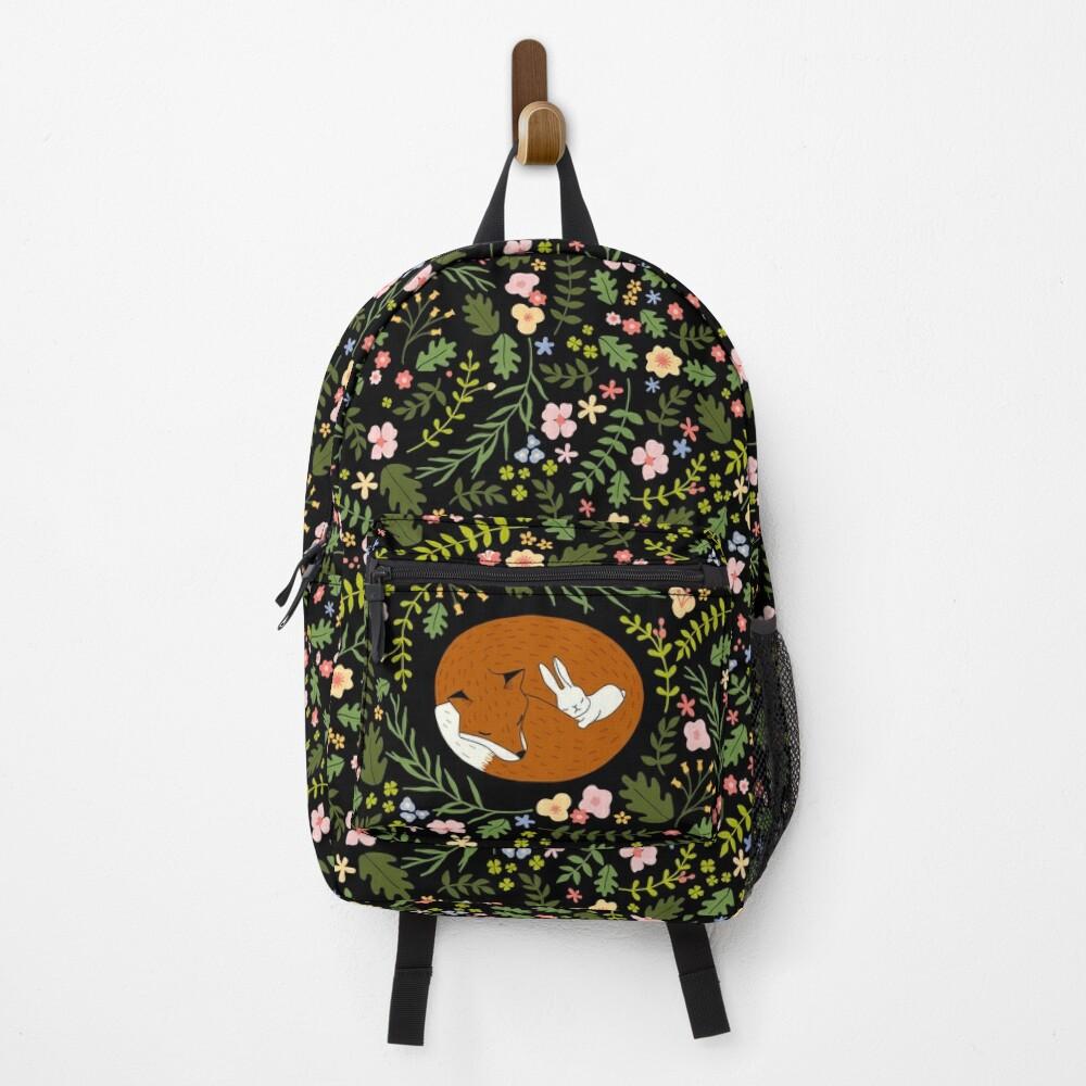 Friendship Fox-Rabbit_BgBlack Backpack