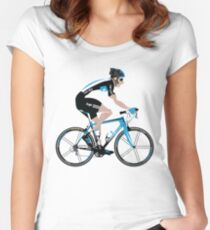 Bradley Wiggins Team Sky Women's Fitted Scoop T-Shirt