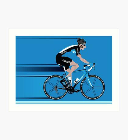 Bradley Wiggins Team Sky Art Print