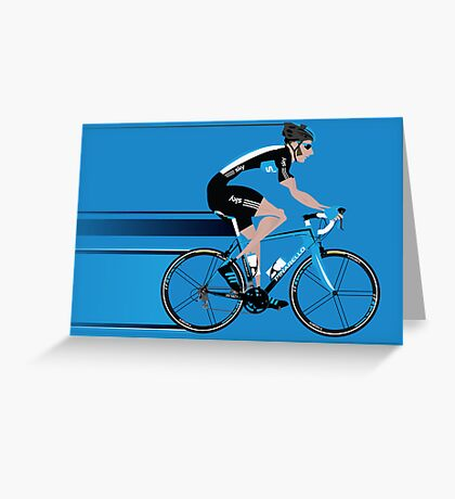Bradley Wiggins Team Sky Greeting Card