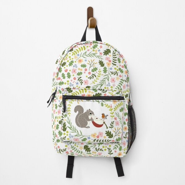 Friendship Squirrel-Robin_BgWhite Backpack