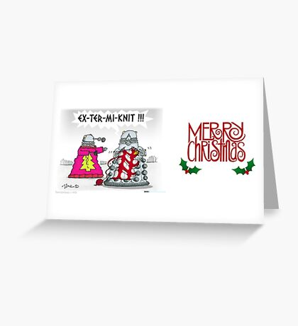 EX-TER-MI-KNIT Greeting Card