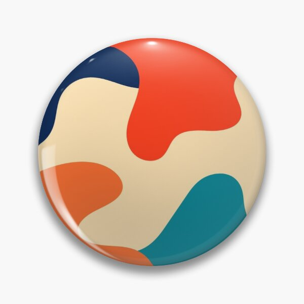 Retro 70s 80s Fluid Abstraction Pin